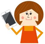 電話占いフィールの初回特典を利用する女性